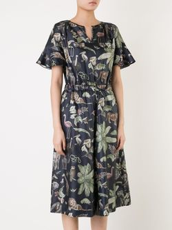 Jungle Print Jumpsuit Muveil                                                                                                              синий цвет