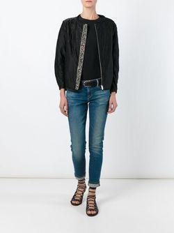 Декорированная Куртка-Бомбер Isabel Marant                                                                                                              черный цвет