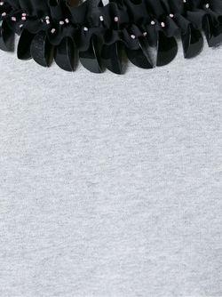 Толстовка С Контрастным Воротником Mcq Alexander Mcqueen                                                                                                              серый цвет
