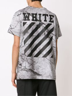Футболка С Принтом OFF-WHITE                                                                                                              серый цвет