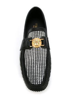 Мокасины С Фирменной Пряжкой Versace                                                                                                              чёрный цвет
