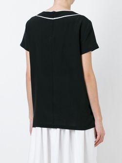 Блузка С Контрастной Окантовкой BOUTIQUE MOSCHINO                                                                                                              черный цвет