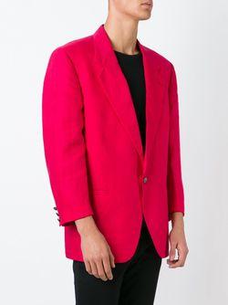 Льняной Пиджак Versace                                                                                                              красный цвет
