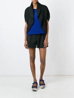 Пиджак Без Застежки С Рюшами Issey Miyake                                                                                                              чёрный цвет