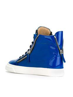 Хайтопы С Молниями По Бокам Giuseppe Zanotti Design                                                                                                              синий цвет