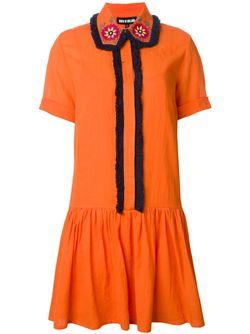 Платье-Рубашка С Вышитым Воротником House Of Holland                                                                                                              желтый цвет
