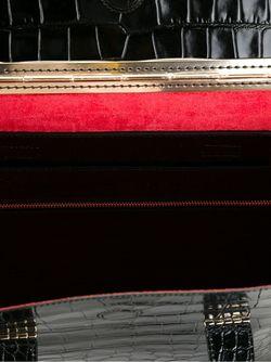 Сумка-Тоут С Эффектом Крокодиловой Кожи Giorgio Armani                                                                                                              черный цвет