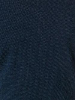 Футболка С V-Образным Вырезом Giorgio Armani                                                                                                              синий цвет