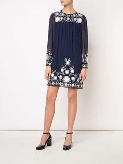 Платье С Вышивкой Rebecca Minkoff                                                                                                              синий цвет