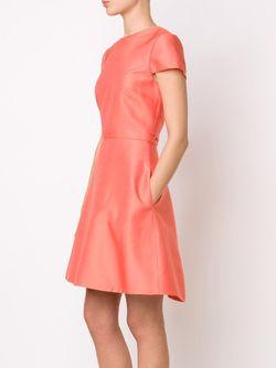Расклешенное Платье С Короткими Рукавами Monique Lhuillier                                                                                                              красный цвет