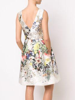 Приталенное Платье С Цветочным Принтом Monique Lhuillier                                                                                                              Nude & Neutrals цвет