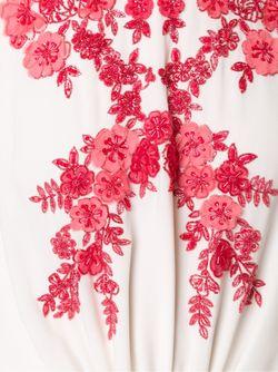 Декорированное Длинное Платье Monique Lhuillier                                                                                                              белый цвет