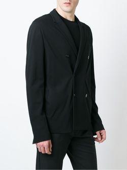 Двубортный Блейзер Emporio Armani                                                                                                              черный цвет