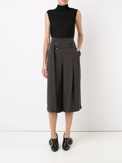 Cropped Wide Trousers GIULIANA ROMANNO                                                                                                              серый цвет