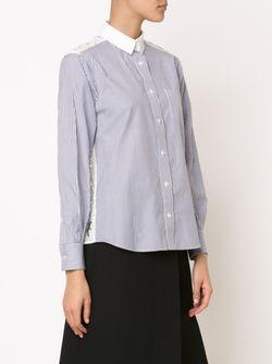 Рубашка С Кружевной Спинкой Sacai                                                                                                              синий цвет