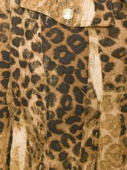 Leopard Print Denim Jacket Christian Dior Vintage                                                                                                              Nude & Neutrals цвет