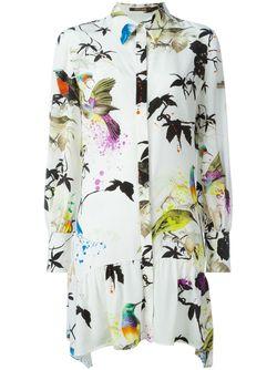 Платье-Рубашка С Принтом Roberto Cavalli                                                                                                              Nude & Neutrals цвет
