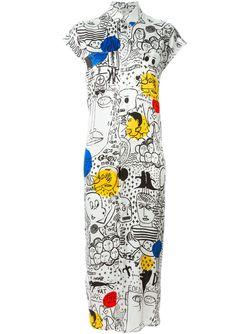 Платье-Рубашка С Принтом Each X Other                                                                                                              белый цвет
