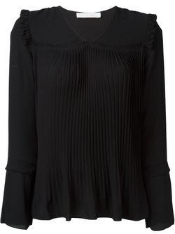 Плиссированная Блузка See By Chloe                                                                                                              чёрный цвет