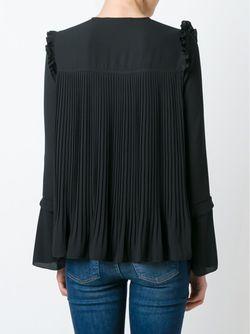 Плиссированная Блузка See By Chloe                                                                                                              черный цвет