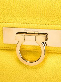 Клатч С Откидным Клапаном Gancio Salvatore Ferragamo                                                                                                              желтый цвет