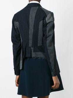 Пиджак В Тонкую Полоску Comme Des Garcons                                                                                                              синий цвет