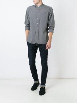 Рубашка С Воротником-Стойкой Boglioli                                                                                                              серый цвет