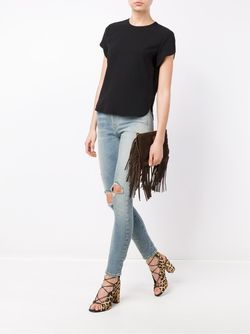 Skinny Distressed Jeans Saint Laurent                                                                                                              синий цвет