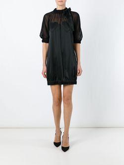 Платье С Рукавами Три-Четверти Love Moschino                                                                                                              чёрный цвет