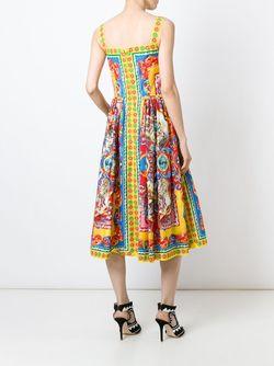 Платье С Принтом Carretto Siciliano Dolce & Gabbana                                                                                                              многоцветный цвет