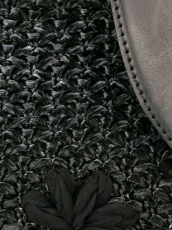 Сумка-Тоут С Цветочной Аппликацией Ermanno Scervino                                                                                                              черный цвет