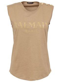 Топ С Логотипом Balmain                                                                                                              коричневый цвет