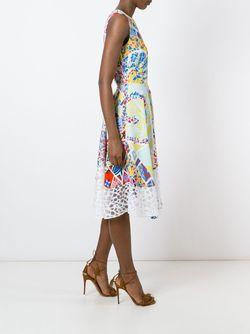 Расклешенное Платье С Принтом Emilio Pucci                                                                                                              синий цвет