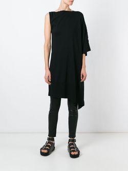 Асимметрично Платье-Свитер MM6 by Maison Margiela                                                                                                              чёрный цвет