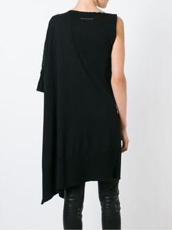 Асимметрично Платье-Свитер MM6 by Maison Margiela                                                                                                              черный цвет
