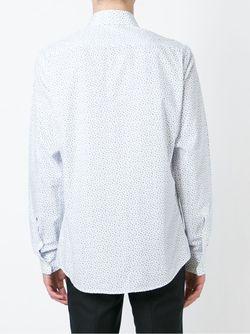 Рубашка С Мелким Принтом Z Zegna                                                                                                              белый цвет