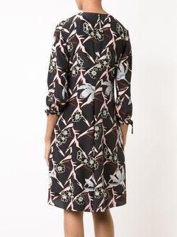 Платье С Цветочным Принтом Dorothee Schumacher                                                                                                              синий цвет
