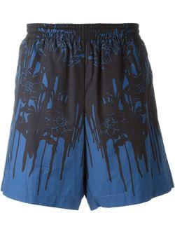 Шорты Для Плавания С Цветочным Принтом Alexander McQueen                                                                                                              синий цвет
