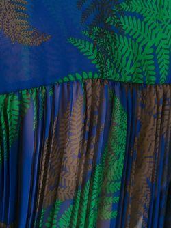 Плиссированный Топ Без Рукавов Sacai                                                                                                              зелёный цвет