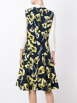 Платье С Цветочным Принтом Marni                                                                                                              синий цвет
