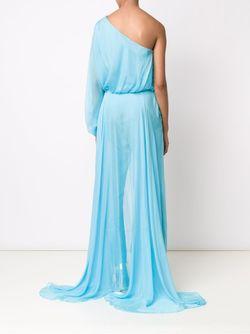 Драпированное Платье На Одно Плечо TAMARA MELLON                                                                                                              синий цвет