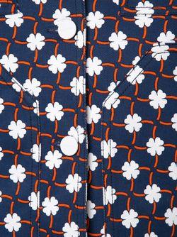Укороченный Пиджак С Ситцевым Узором Carven                                                                                                              синий цвет