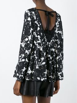 Блузка С Цветочным Принтом Twin-set                                                                                                              чёрный цвет