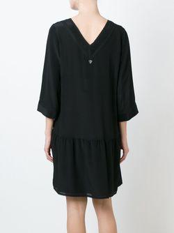 Платье C V-Образным Вырезом Twin-set                                                                                                              чёрный цвет