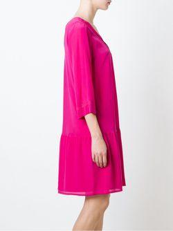 Платье Шифт C V-Образным Вырезом Twin-set                                                                                                              розовый цвет