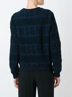 Полосатый Свитер MSGM                                                                                                              синий цвет