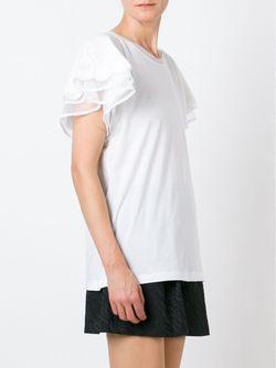 Футболка С Вышивкой Twin-set                                                                                                              белый цвет