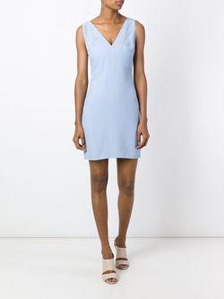 Платье Без Рукавов C V-Образным Вырезом Dondup                                                                                                              синий цвет