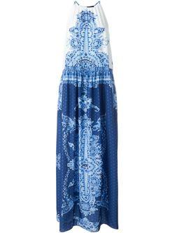 Платье Без Рукавов С Принтом Twin-Set Jeans                                                                                                              синий цвет