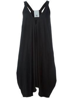 Асимметричное Платье C V-Образным Вырезом LOST AND FOUND ROOMS                                                                                                              чёрный цвет